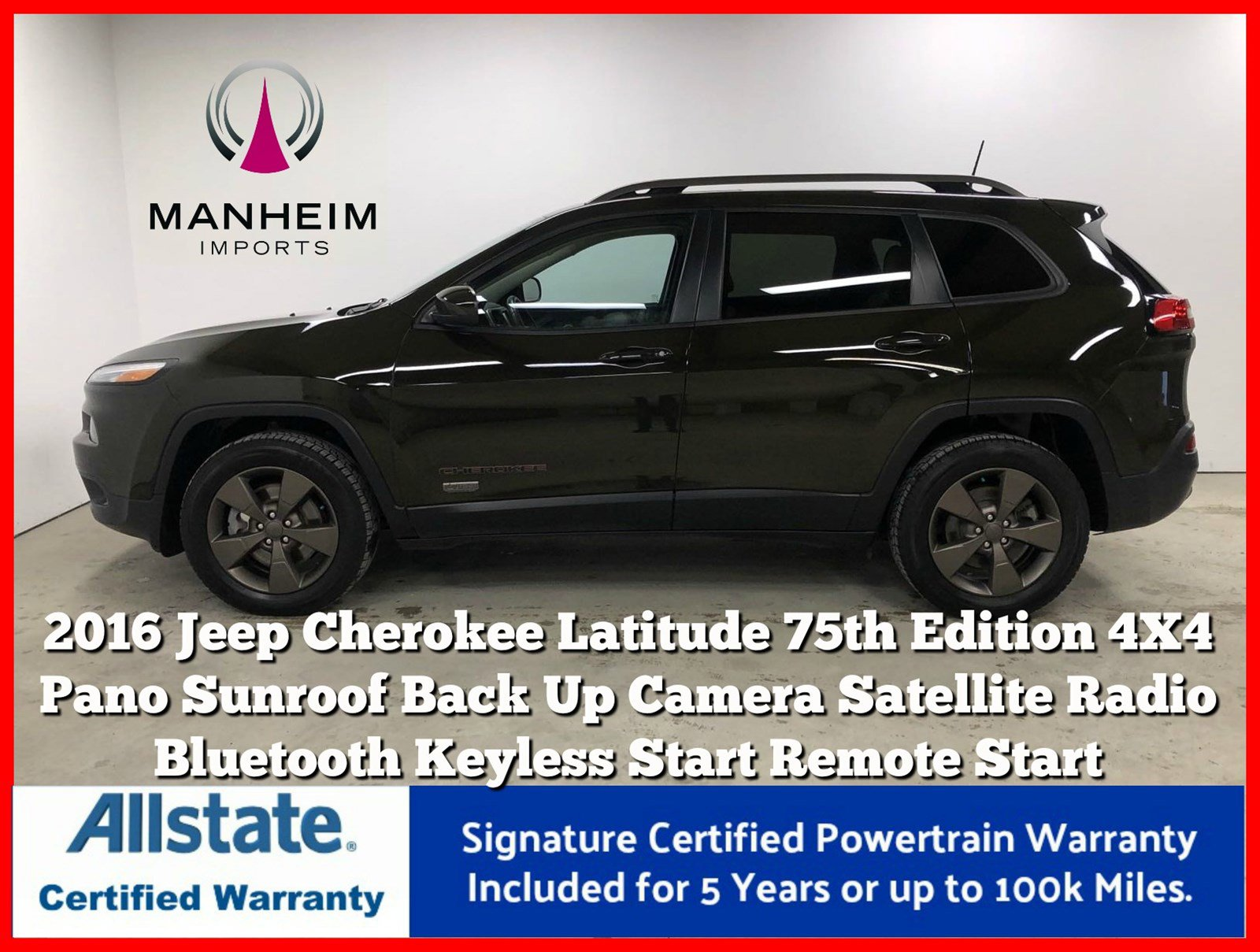 Pre-Owned 2016 Jeep Cherokee 4X4 75th Anniversary