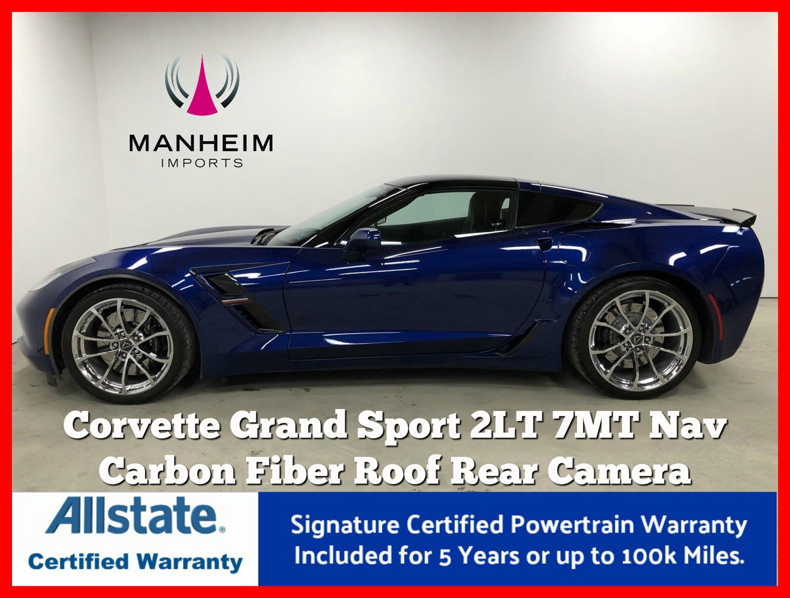 Pre-Owned 2017 Chevrolet Corvette Grand Sport 2LT