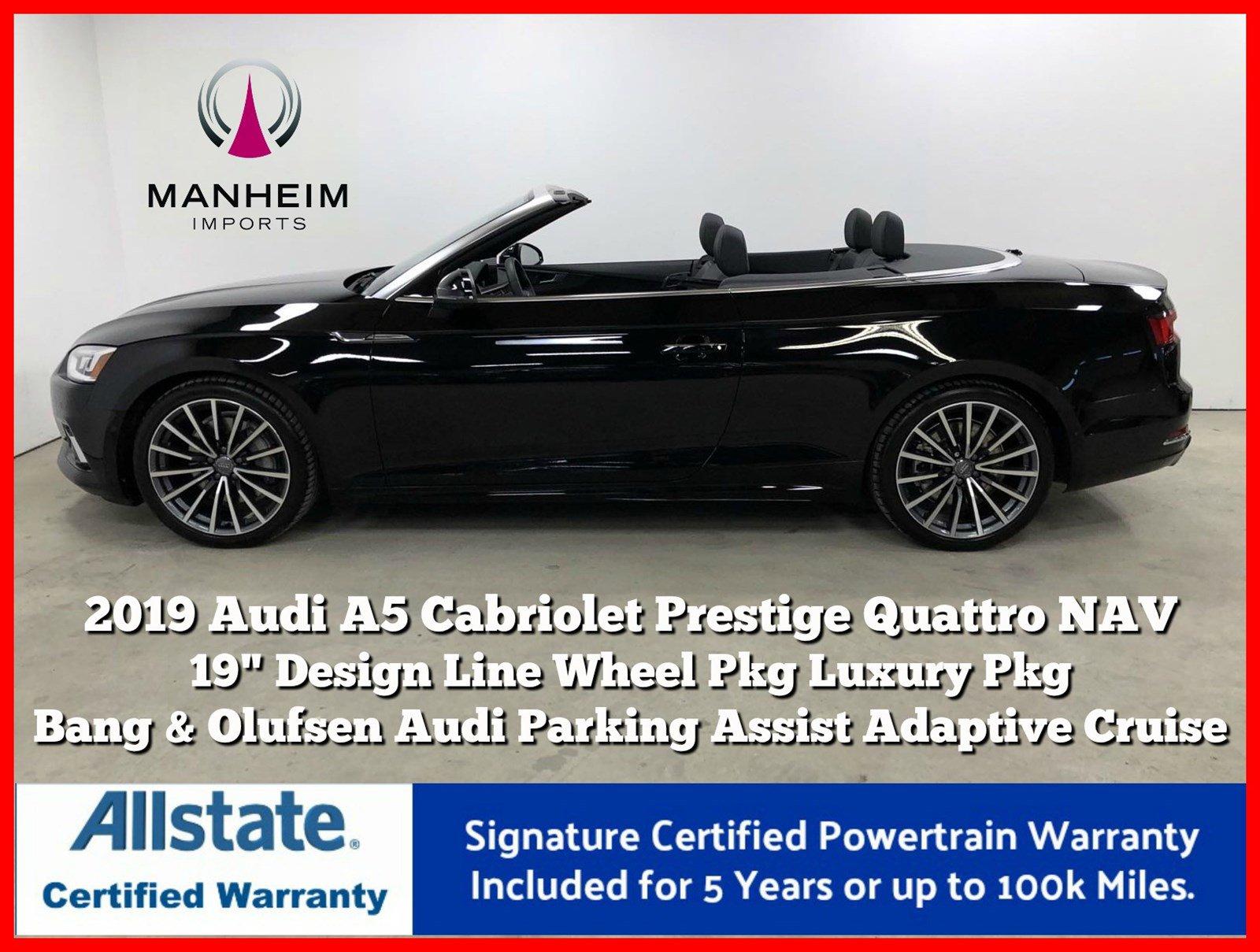 Pre-Owned 2019 Audi A5 Cabriolet Prestige Quattro