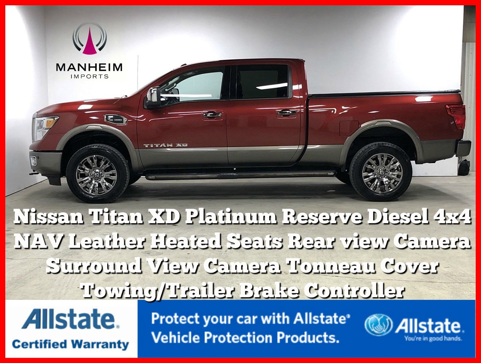 Pre-Owned 2016 Nissan Titan XD Platinum Reserve Diesel 4x4