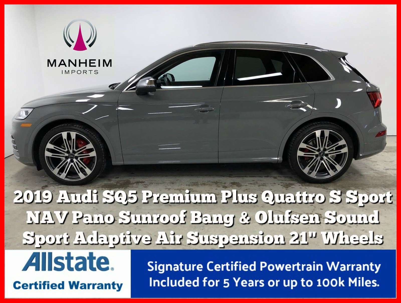 Pre-Owned 2019 Audi SQ5 Premium Plus Quattro S Sport
