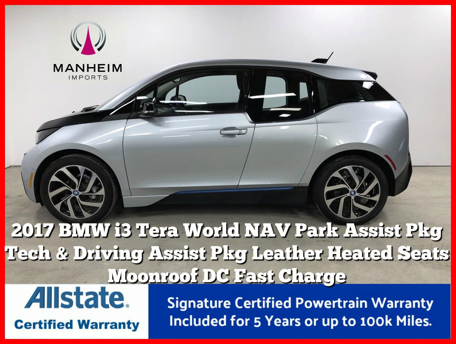 Pre-Owned 2017 BMW i3 Tera World Range Extender