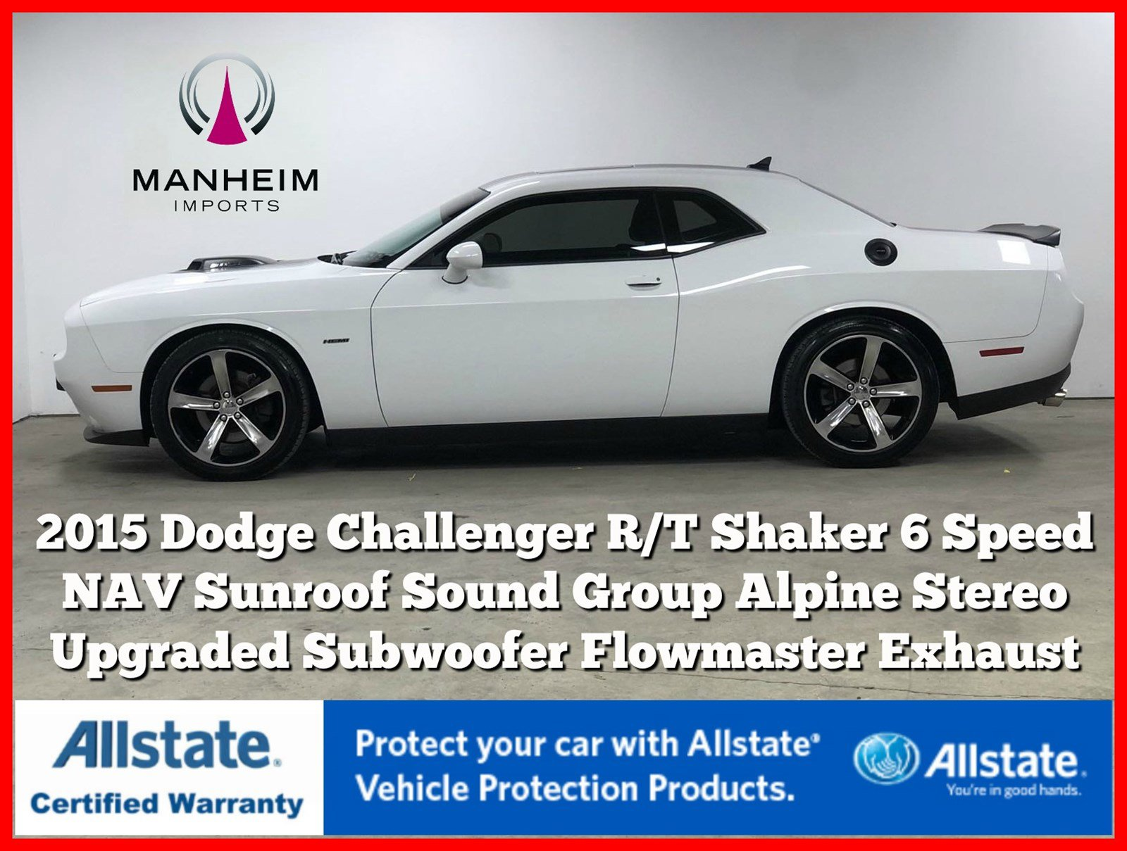 Pre-Owned 2015 Dodge Challenger R/T Shaker