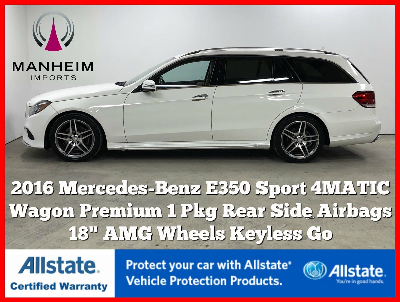Pre-Owned 2016 Mercedes-Benz E-Class E 350 Sport 4MATIC® Wagon