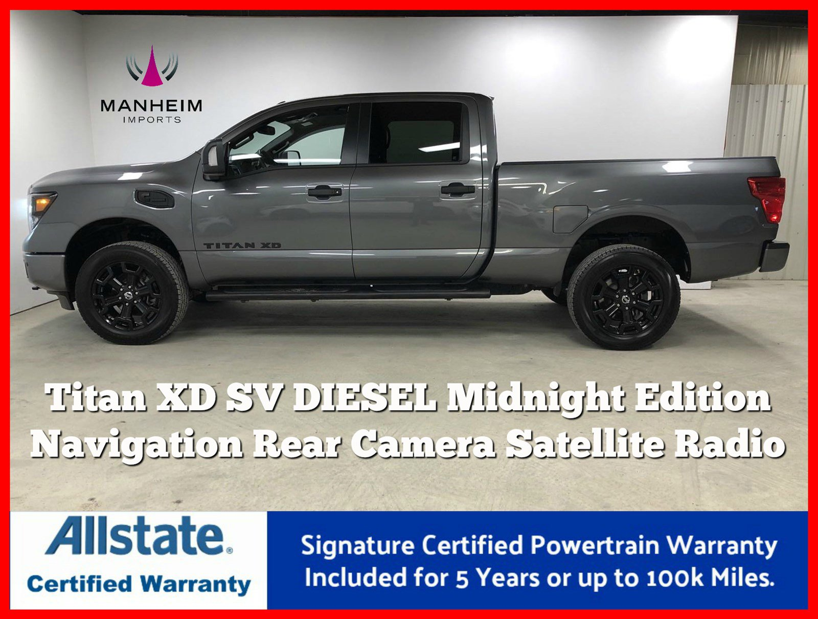 Pre-Owned 2019 Nissan Titan XD Diesel SV Midnight Edition