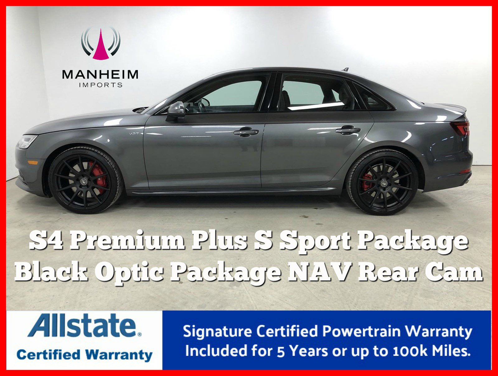 Pre-Owned 2018 Audi S4 Premium Plus S Sport Package