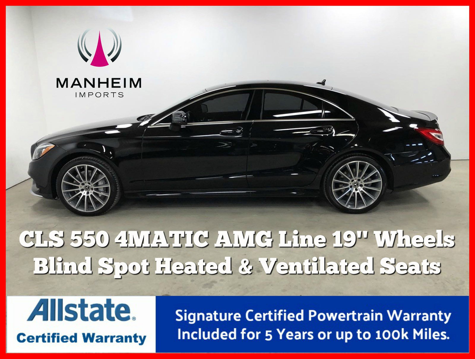 Pre-Owned 2018 Mercedes-Benz CLS CLS 550 4MATIC® Coupe