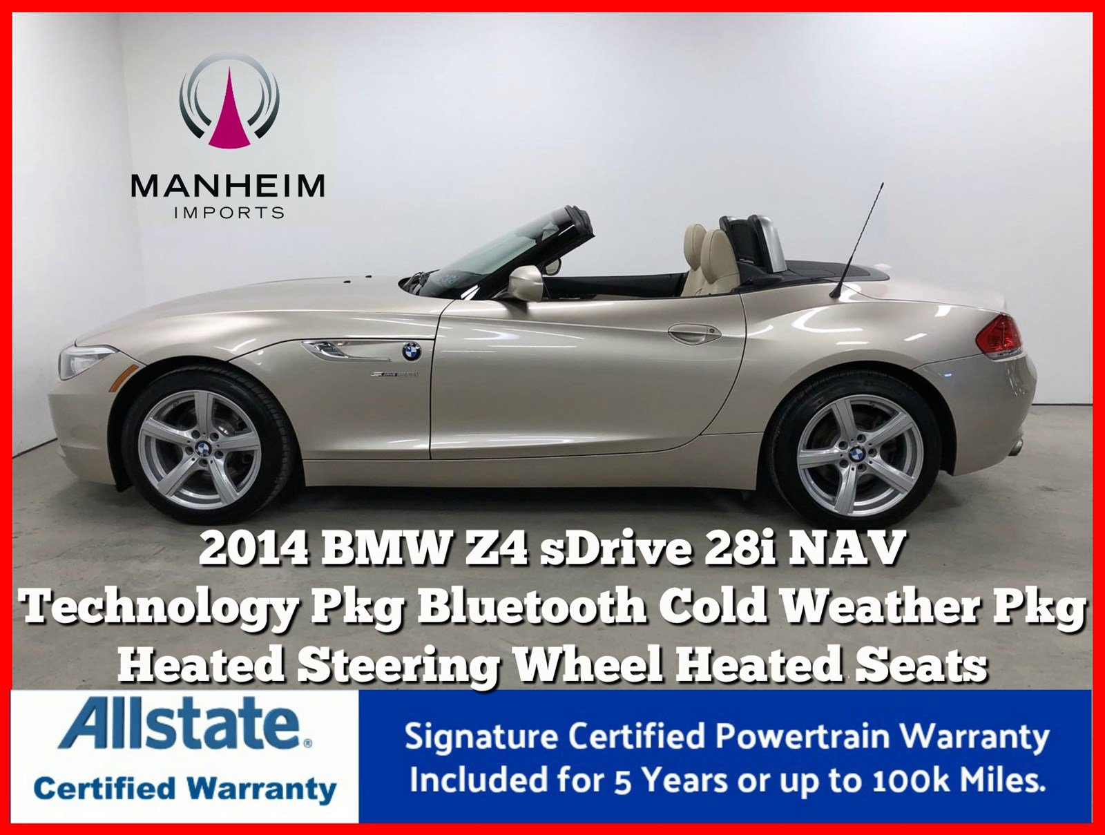 Pre-Owned 2014 BMW Z4 sDrive28i