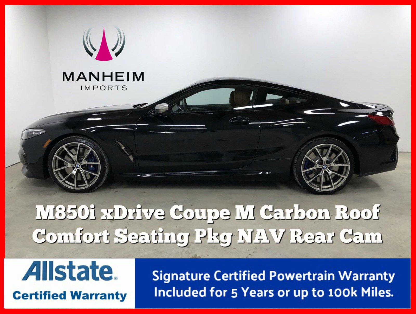 Pre-Owned 2019 BMW 8 Series M850i xDrive Coupe