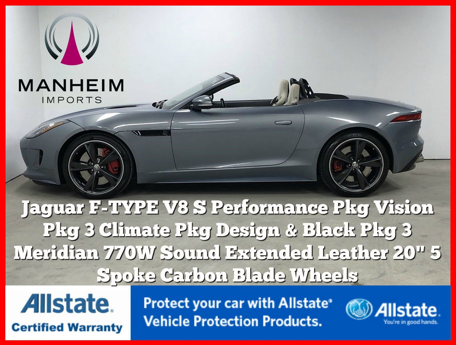 Pre-Owned 2014 Jaguar F-TYPE V8 S Performance Pack