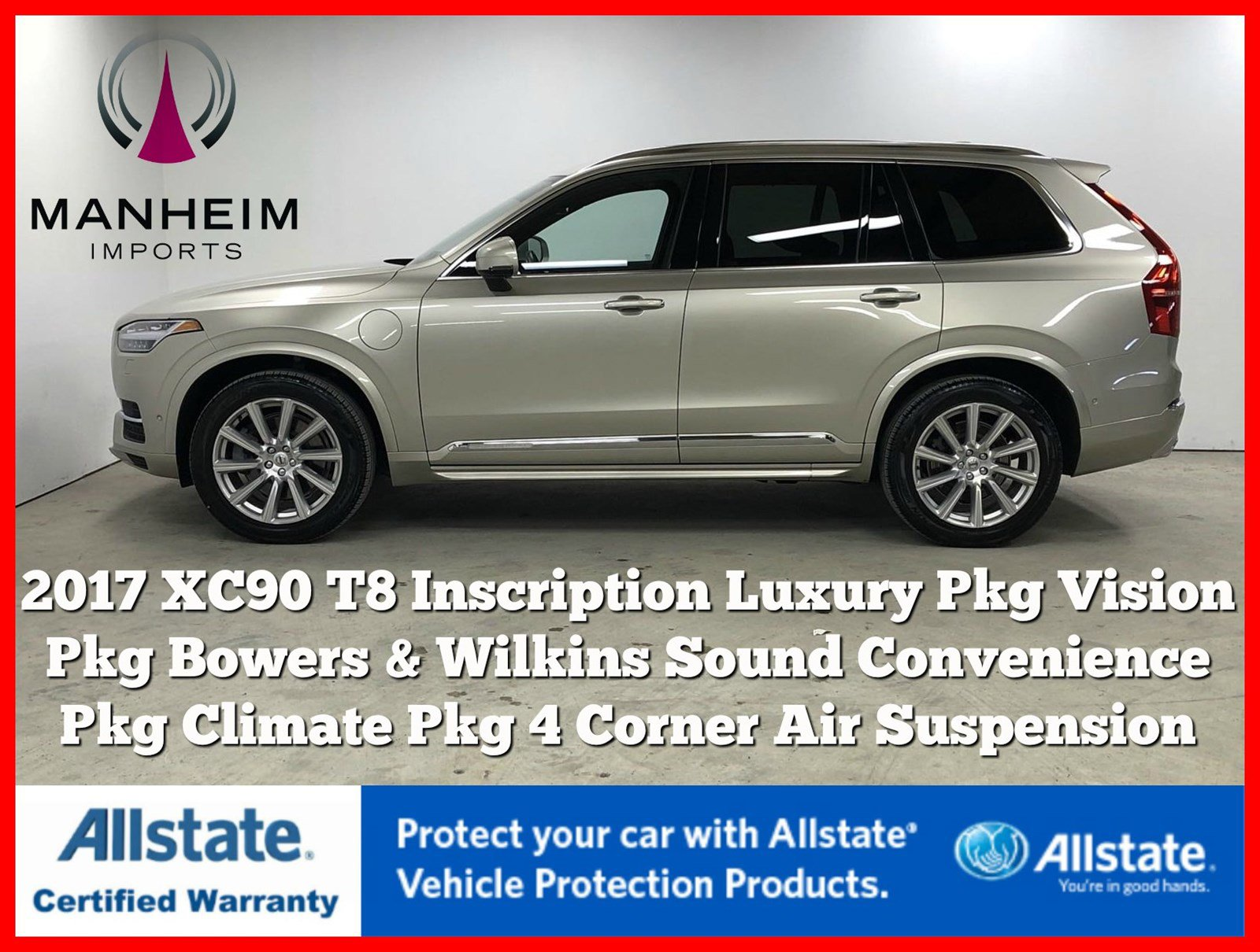 Pre-Owned 2017 Volvo XC90 T8 Inscription