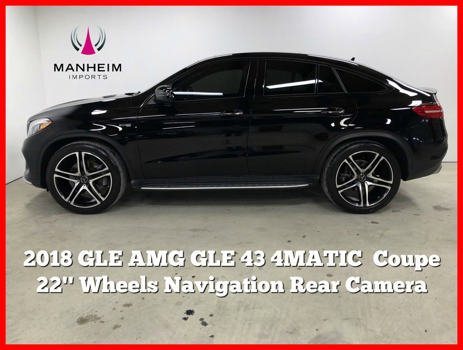 Pre-Owned 2018 Mercedes-Benz GLE AMG® GLE 43 4MATIC Coupe