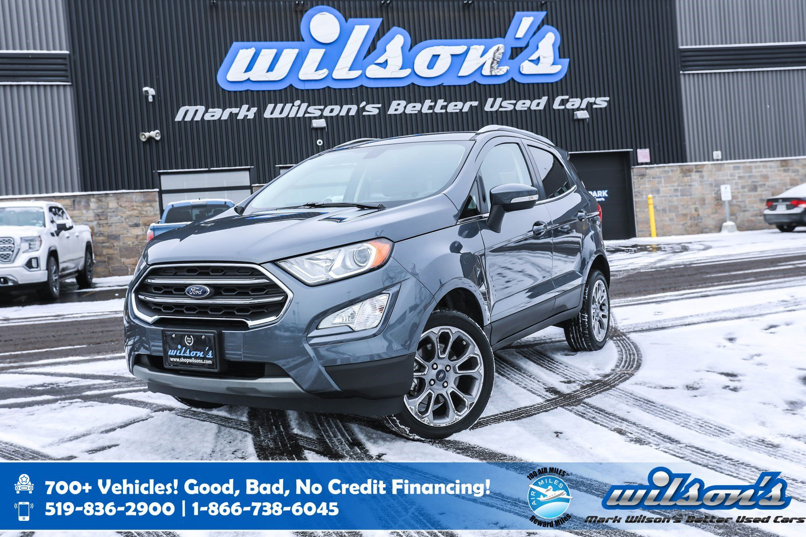 Certified Pre-Owned 2019 Ford EcoSport Titanium AWD Used, Leather, Navigation, Sunroof, Heated Seats + Steering , Bluetooth, Rear Camera