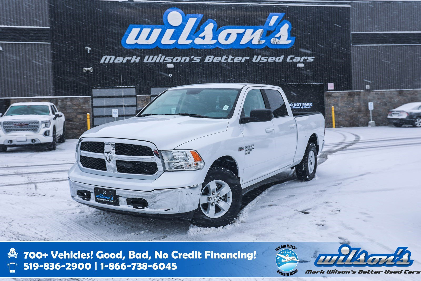 Certified Pre-Owned 2019 Ram 1500 Classic SLT Crew Cab 4x4 Hemi, Power Seat, Bluetooth Streaming, Rear Camera, 6FT Box and more!