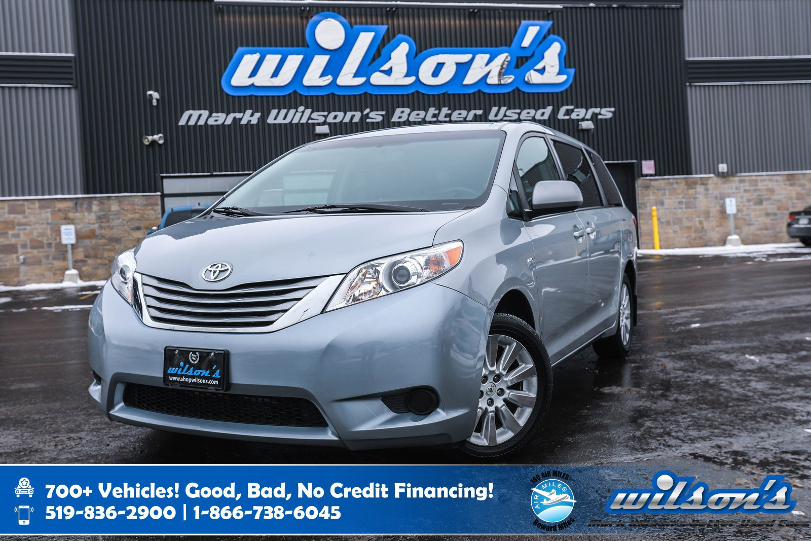 "Certified Pre-Owned 2016 Toyota Sienna LE AWD, Leather, Rear Camera, Heated + Power Seats, Bluetooth, Keyless Entry, 18"" Alloys and more!"
