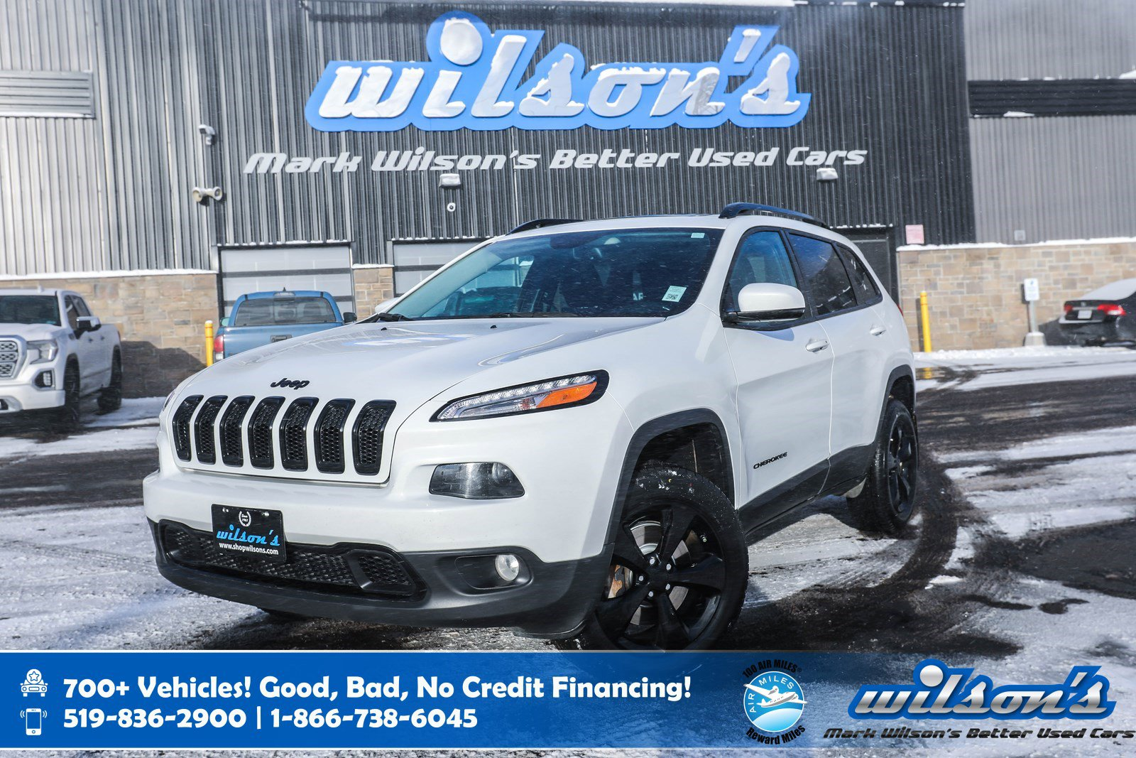 Certified Pre-Owned 2017 Jeep Cherokee Limited V6 4x4 - High Altitude, Leather, Sunroof, Navigation, BlindSpot+Rear Cross-Traffic Alert