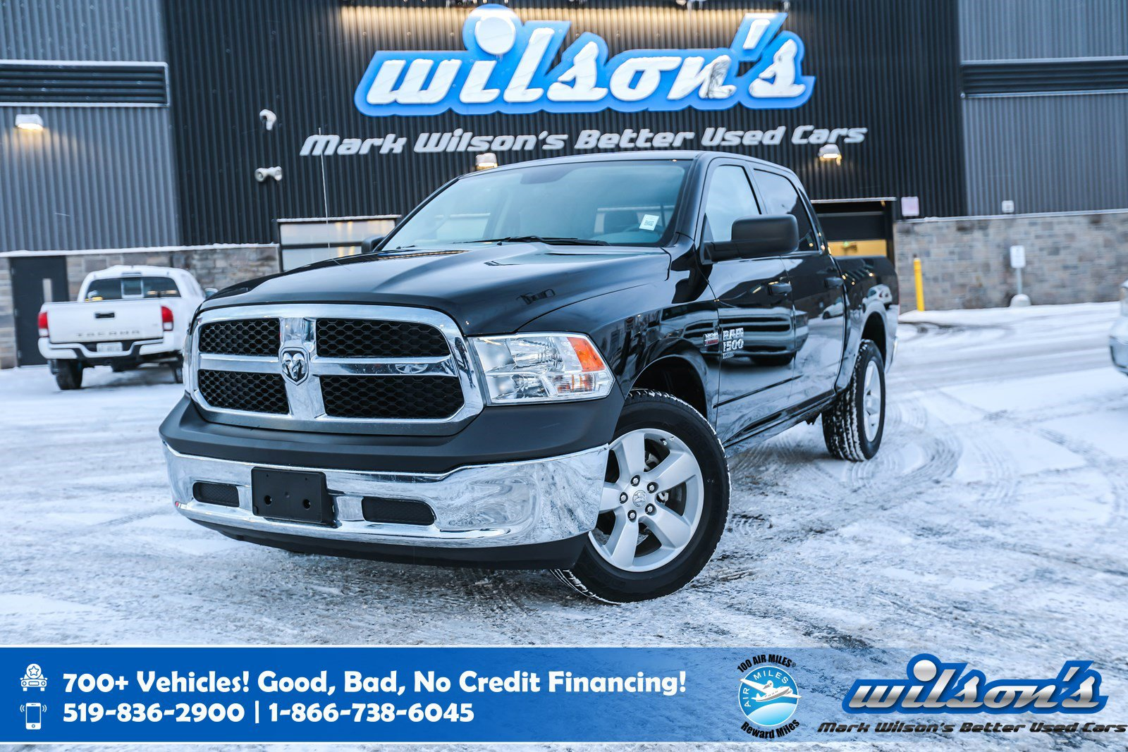 """Certified Pre-Owned 2019 Ram 1500 Classic SLT Crew Cab 4x4 Hemi, Bluetooth, Rear Camera, 20"""" Alloy Wheels and more!"""