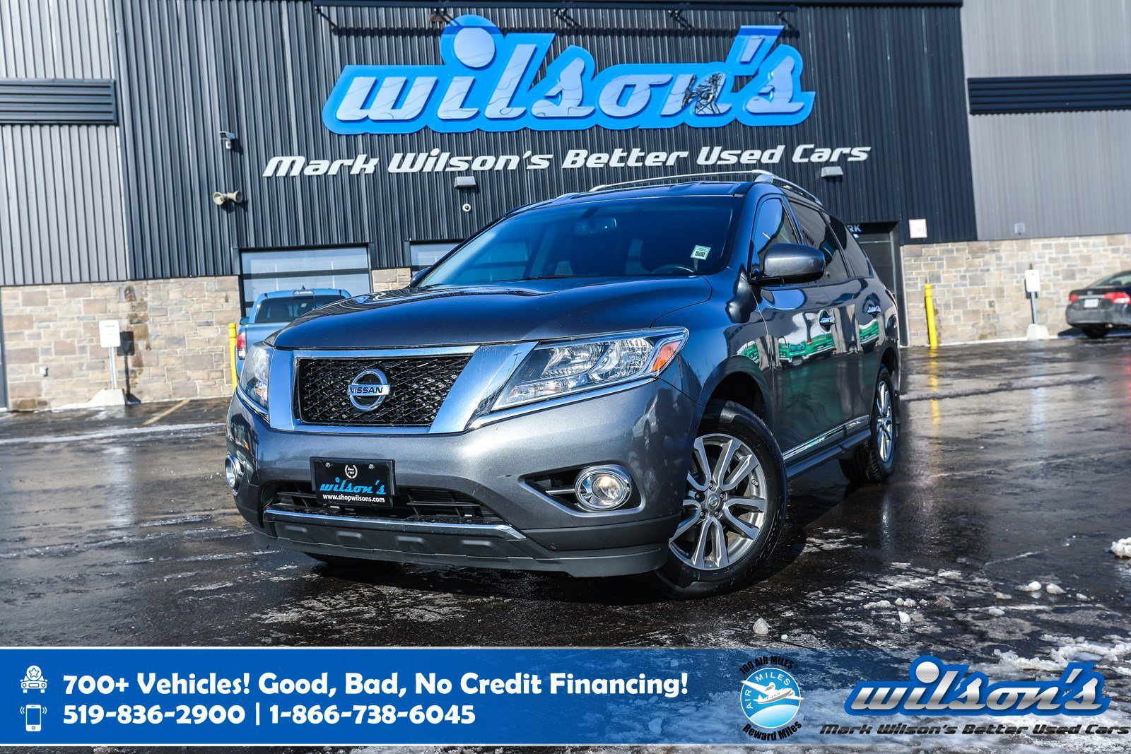 Certified Pre-Owned 2015 Nissan Pathfinder SL 4WD, Leather, Heated Steering, New Tires, Blindpot Alert, Remote Start, Bluetooth and more!