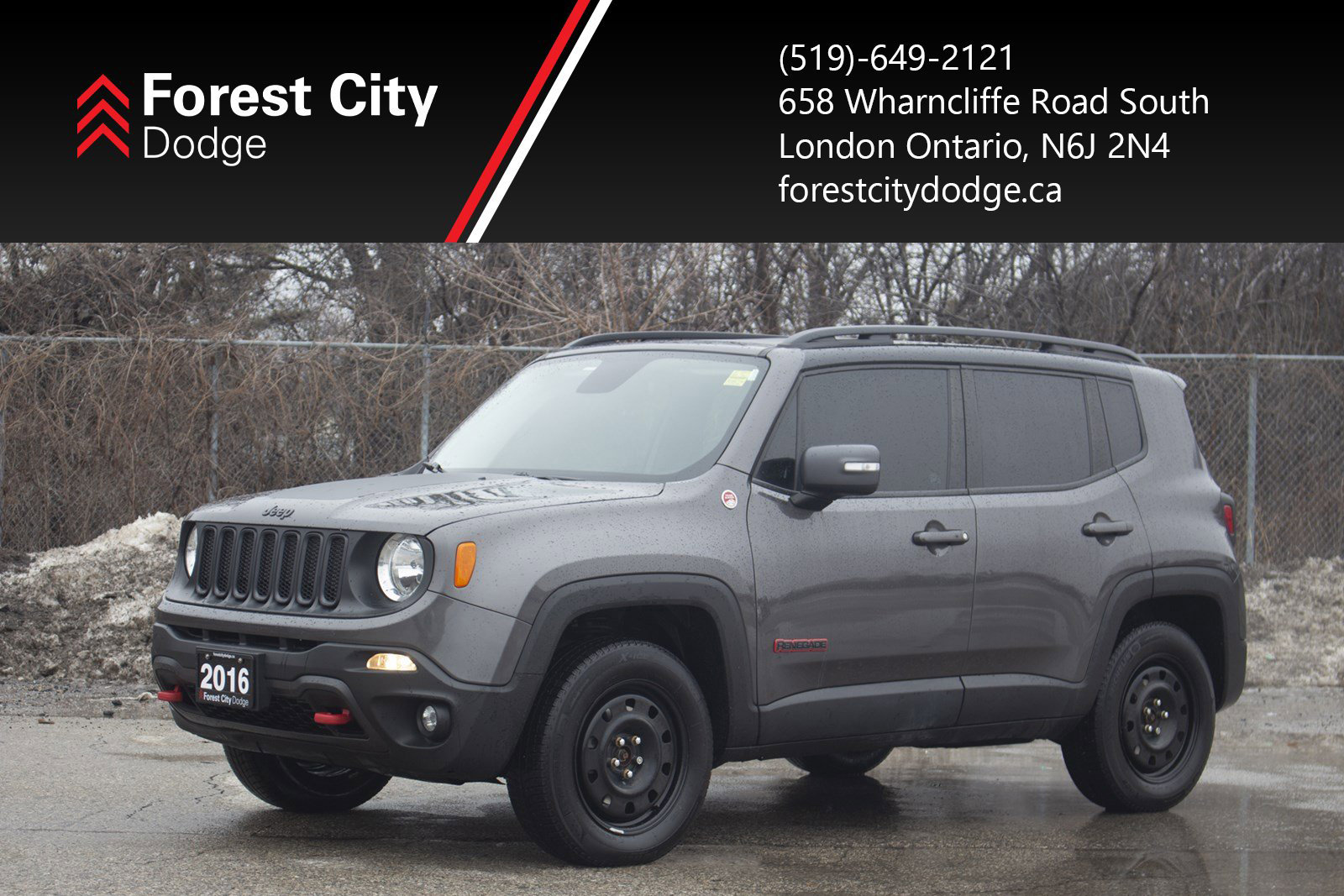 Pre-Owned 2016 Jeep Renegade Trailhawk, AUTOMATIC,LEATHER INTERIOR