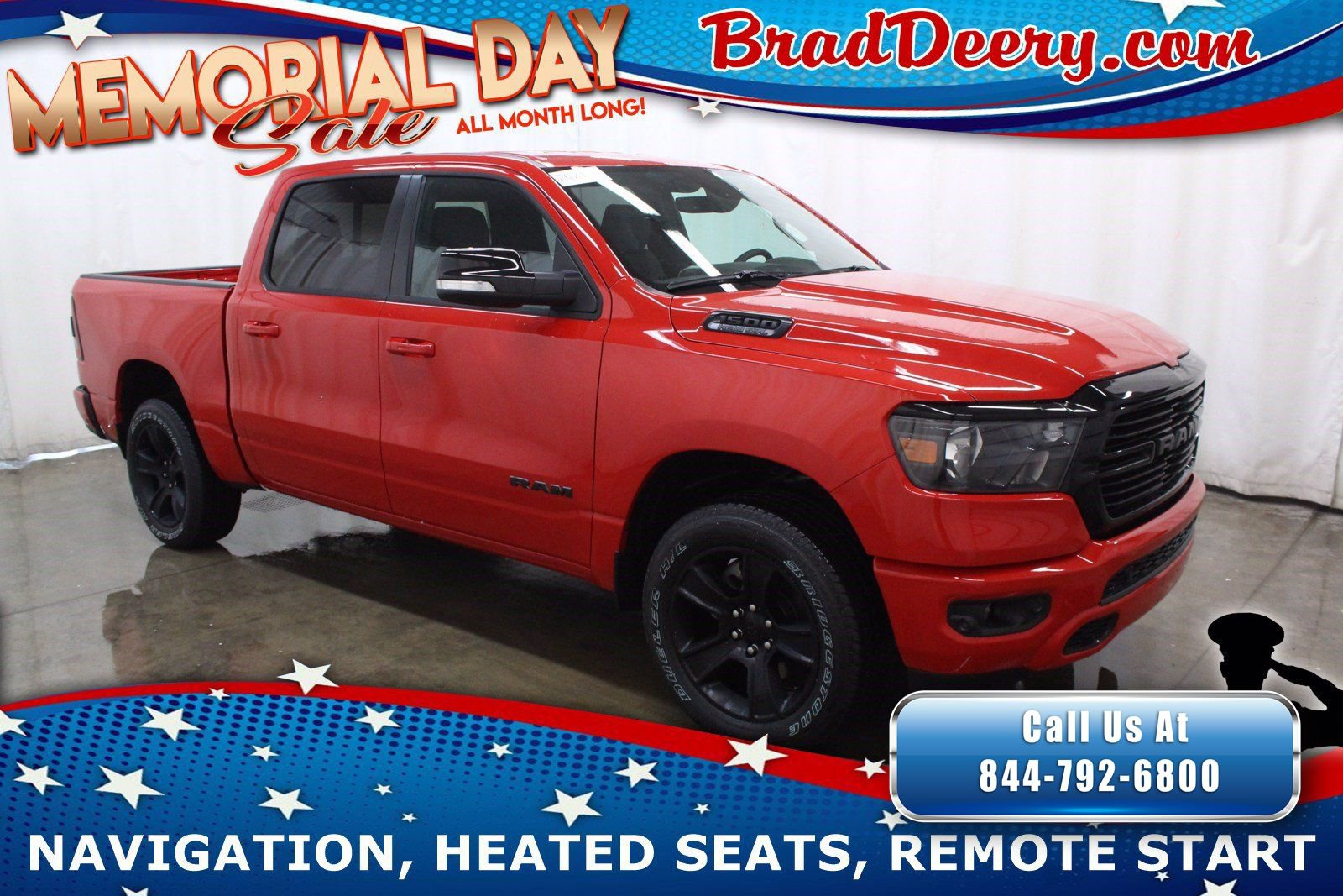 2021 Ram 1500 Big Horn Crew Cab 4x4  **NIGHT EDITION** w/ Navigation, Heated Seats, Remote Start & Level 2 Group