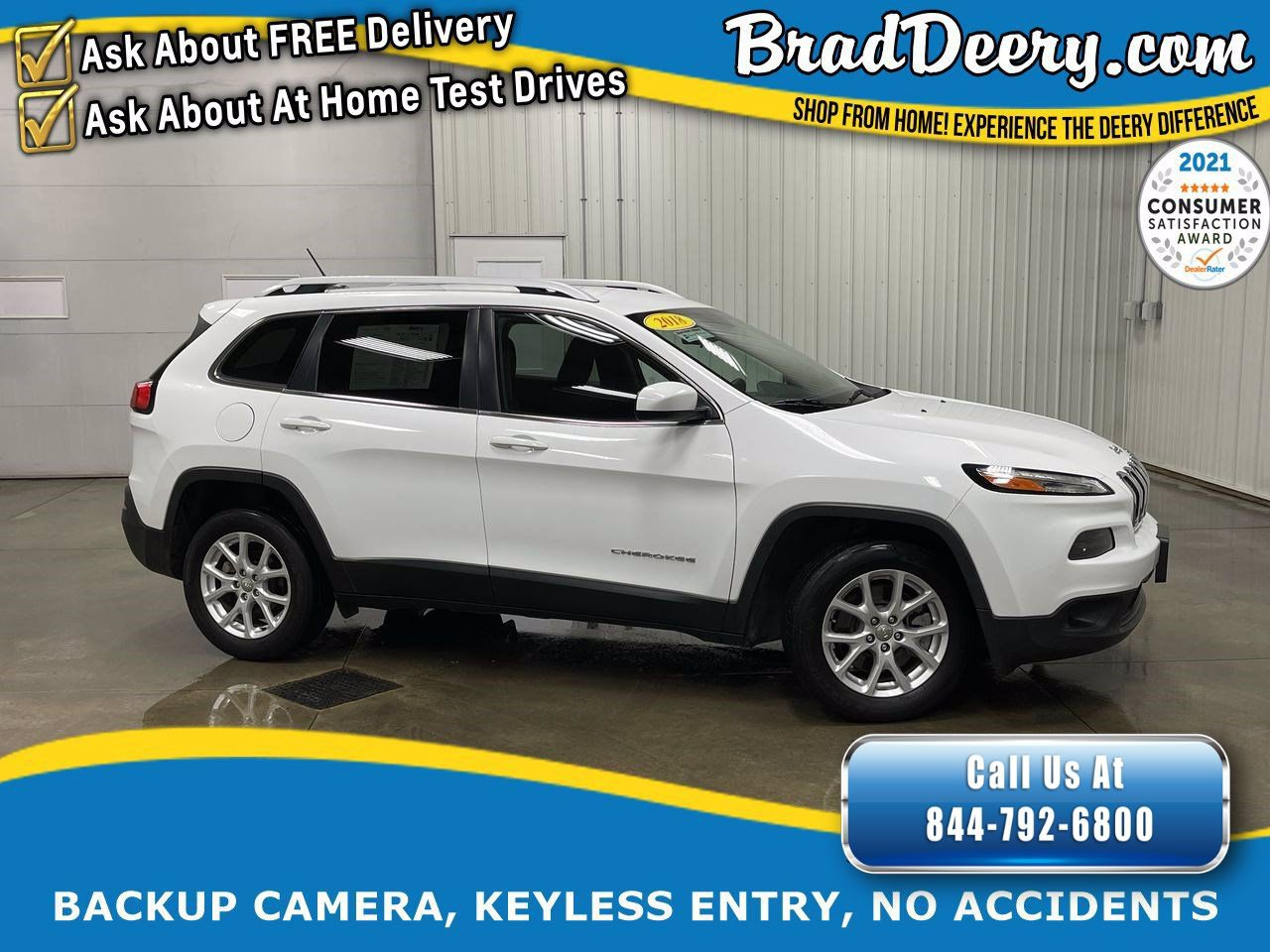 2018 Jeep Cherokee Latitude w/ No Accidents, Uconnect 3 & Back-Up Camera