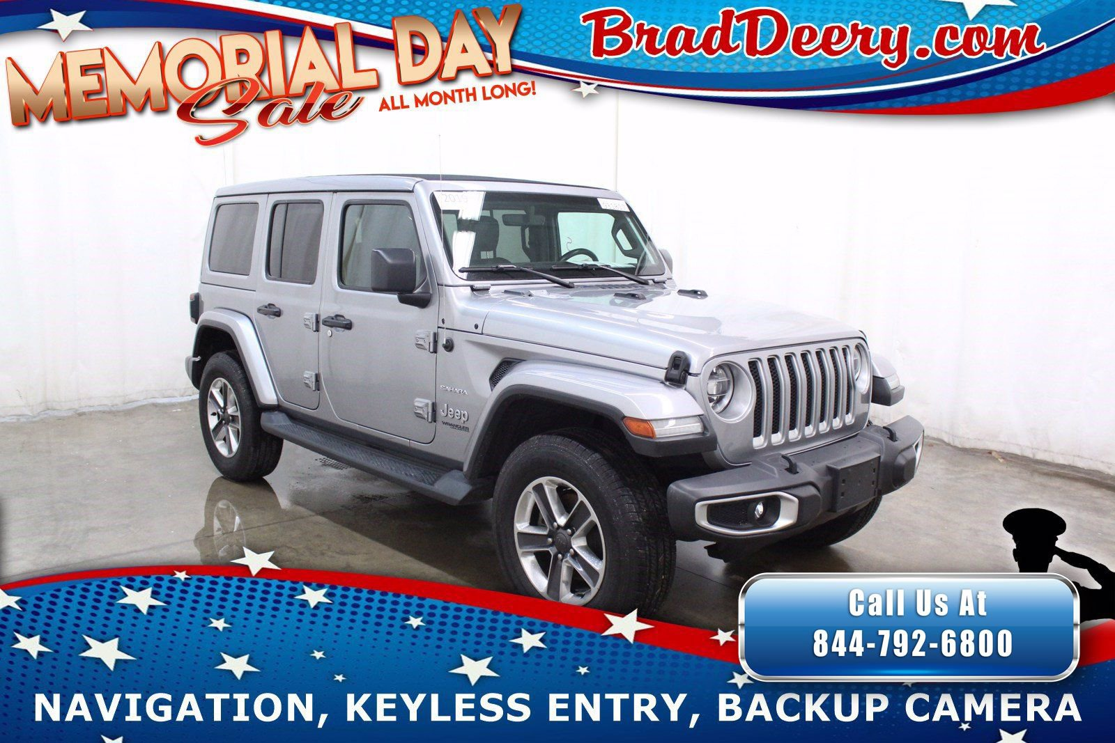2019 Jeep Wrangler Unlimited 4-Door Sahara 4x4   **SKY ONE-TOUCH POWER TOP** w/ Navigation, Leather, Back-Up Cam & Trailer Tow Group