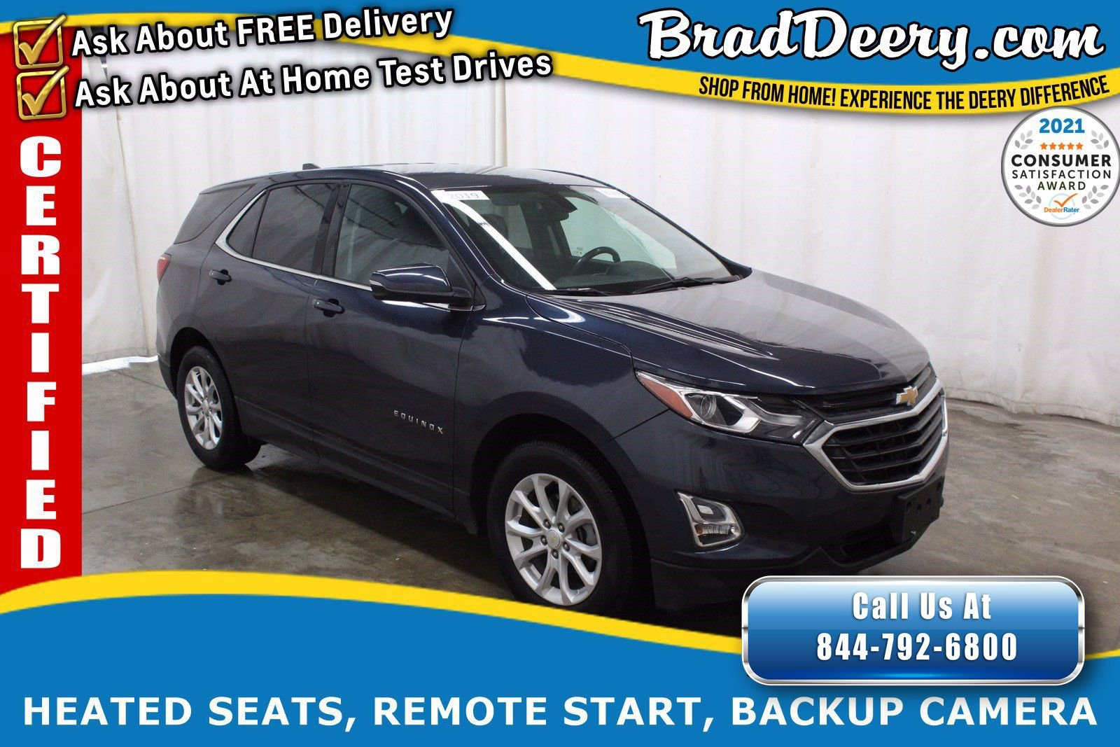 2019 Chevrolet Equinox LT ** GM CERTIFIED ** w/ Heated Seats, Remote Start, Back-Up Camera & Power Liftgate