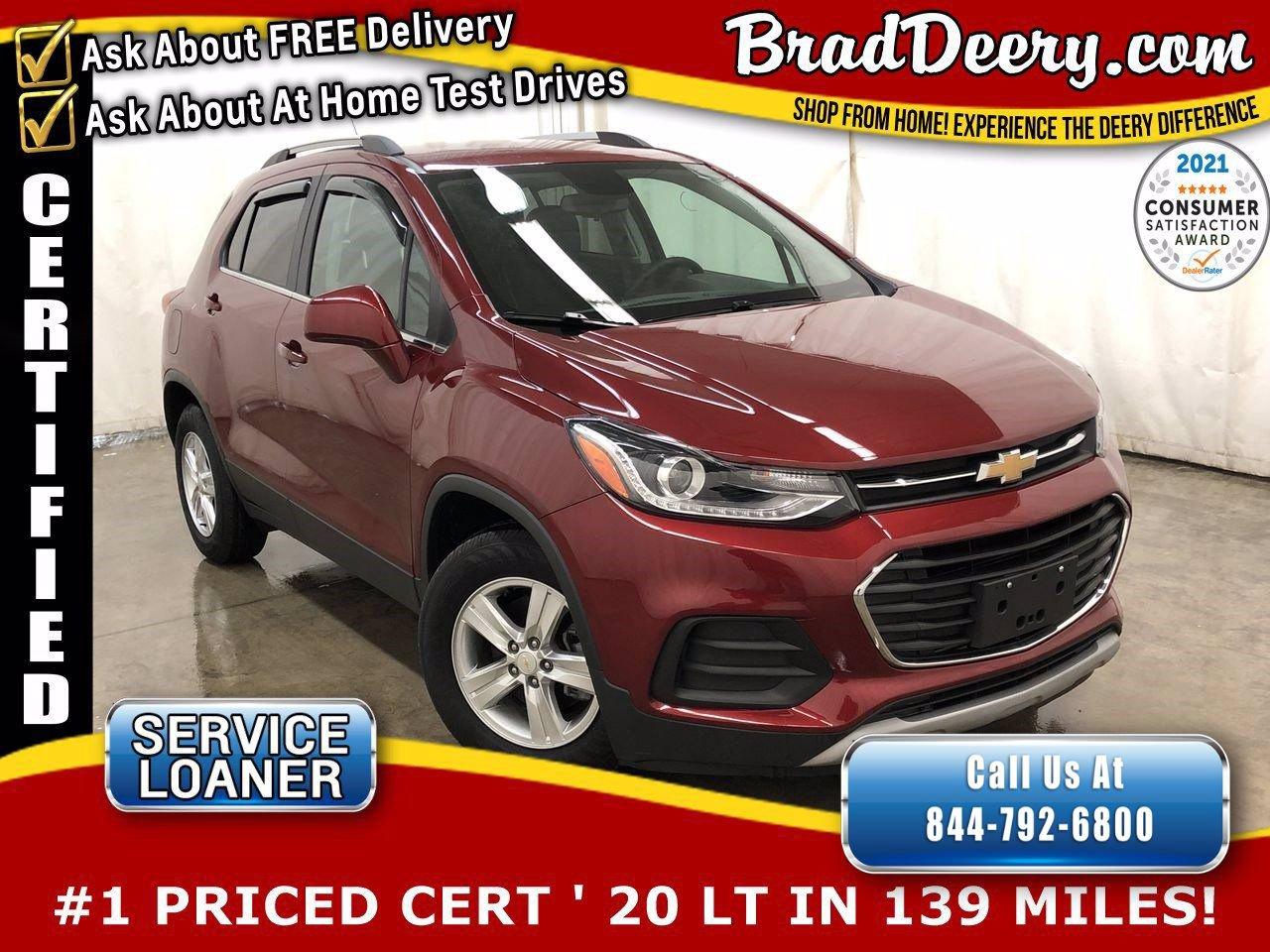2020 Chevrolet Trax LT ** GM CERTIFIED ** w/ Clean Carfax, Remote Start, Back-Up Camera, Keyless Open & Start