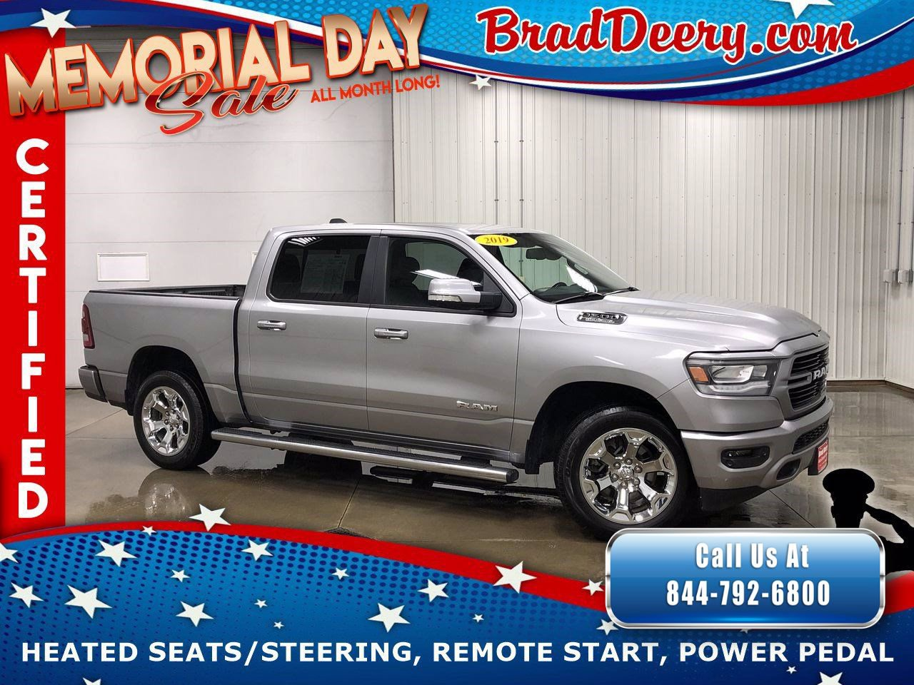 2019 Ram 1500 Big Horn Crew Cab 4X4 ** RAM CERTIFIED ** w/ Sport Pkg, 5.7 HEMI V8, Heated Seats & Remote Start