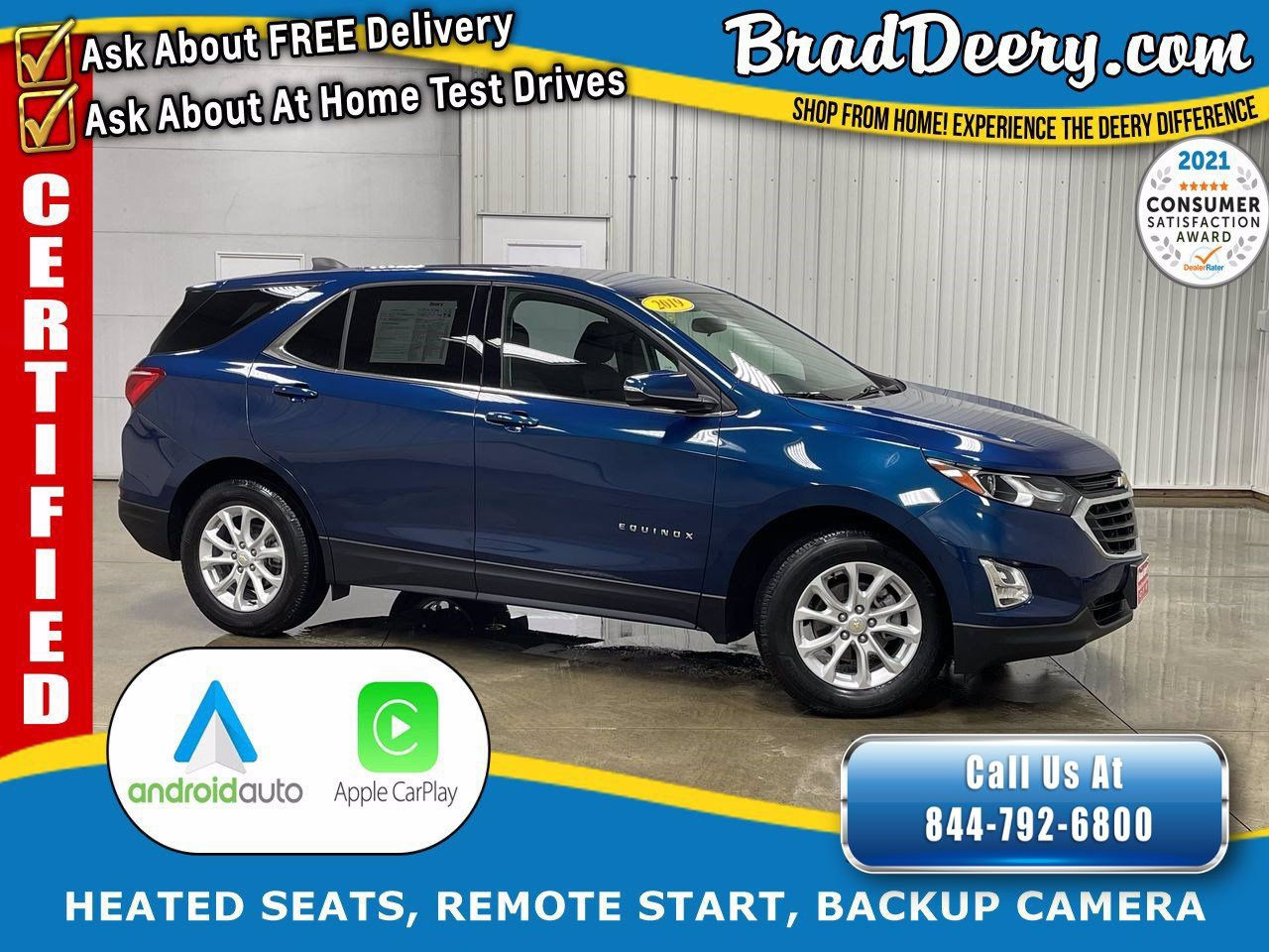 2019 Chevrolet Equinox LT   **GM CERTIFIED** w/ Heated Seats, Remote Start, Back-Up Camera & Power Liftgate