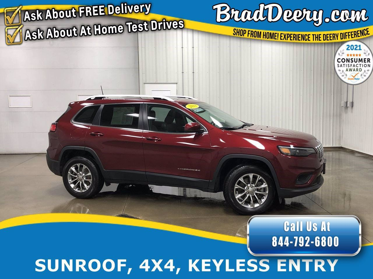 2019 Jeep Cherokee Latitude Plus 4X4 w/ No Accidents, Sunroof, Remote Start, Power Liftgate & Jeep Active Drive I