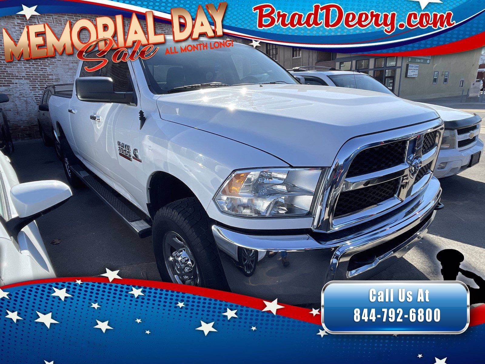 2014 Ram 2500 SLT Crew Cab 4X4 Diesel w/ No Accidents, Trailer Brake Controller & Class V Hitch Receiver
