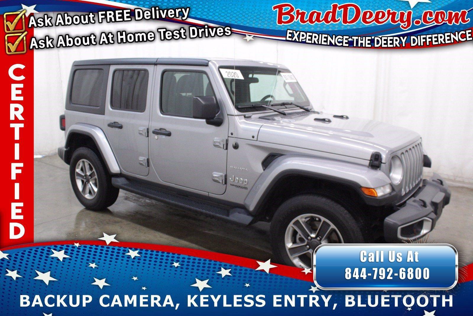 2020 Jeep Wrangler Unlimited 4-Door Sahara 4x4  **JEEP CERTIFIED** w/ 3-Piece Hardtop, Back-Up Camera & Push Button Start