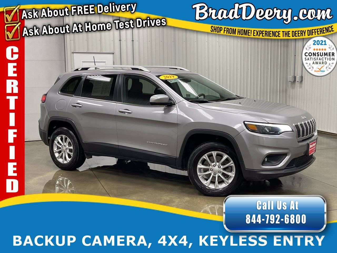 2019 Jeep Cherokee Latitude 4x4    **JEEP CERTIFIED** - **1-OWNER** w/ 3.2L V6, Back-Up Camera, Selec-Terrain System
