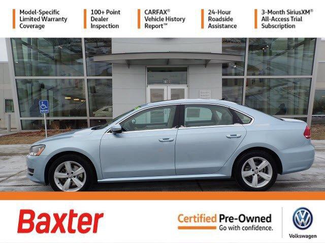 Certified Pre-Owned 2012 Volkswagen Passat TDI SE w/Sunroof