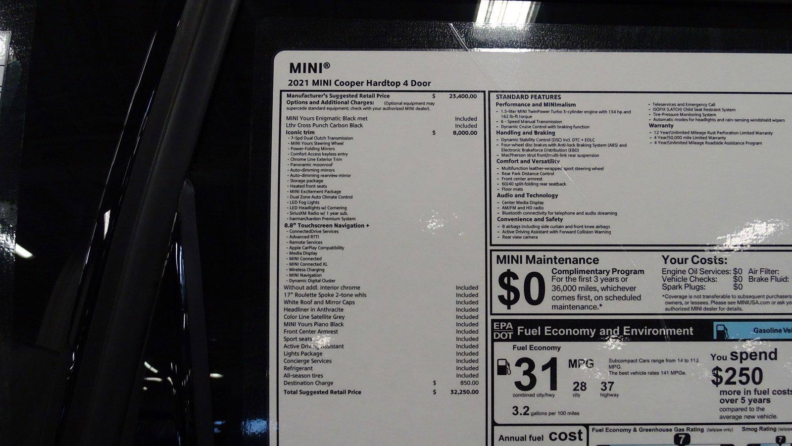 Pre-Owned 2021 MINI Hardtop 4 Door Cooper