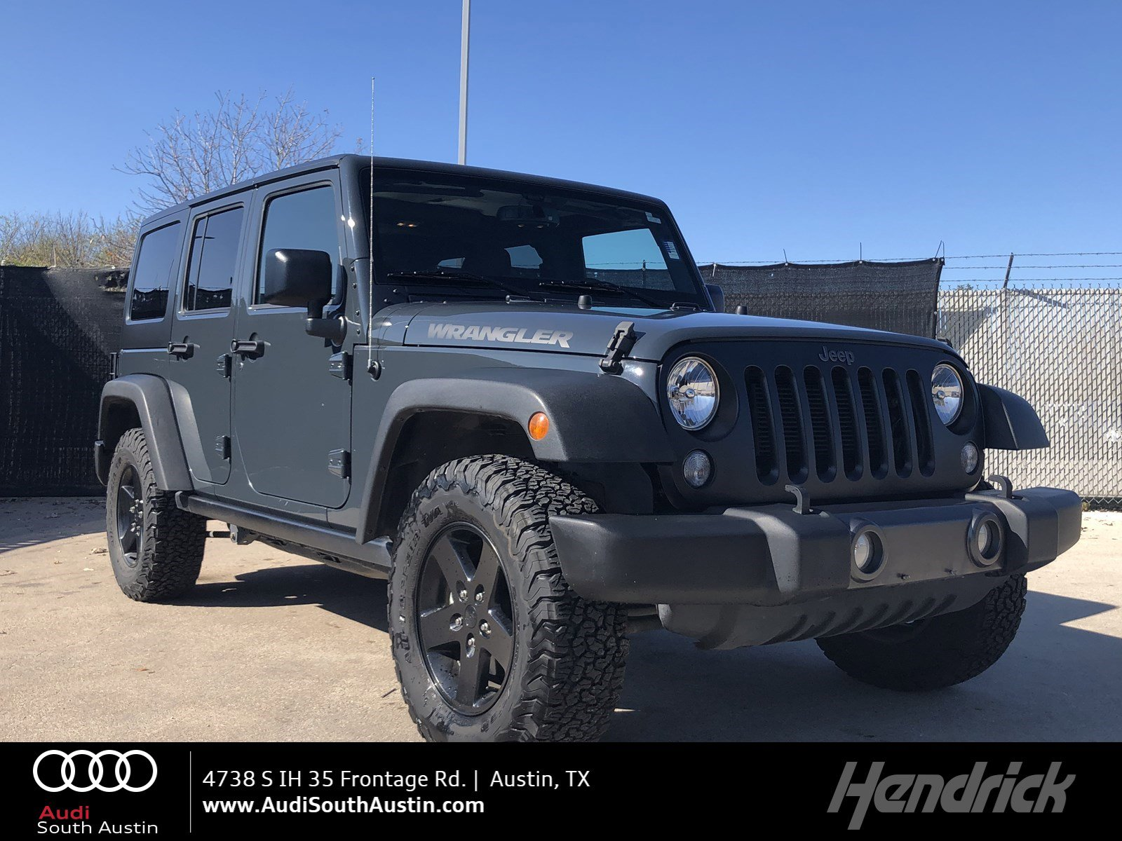 Jeep Big Bear >> Pre Owned 2017 Jeep Wrangler Unlimited Big Bear With Navigation 4wd