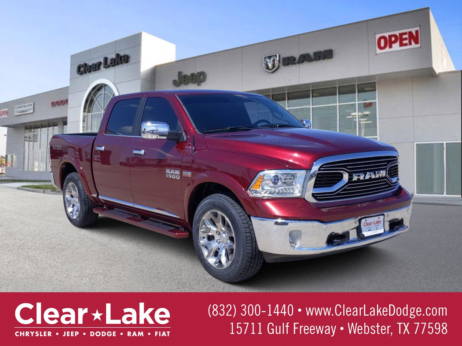 Pre Owned 2017 Ram 1500 Limited Crew Cab Pickup In Webster
