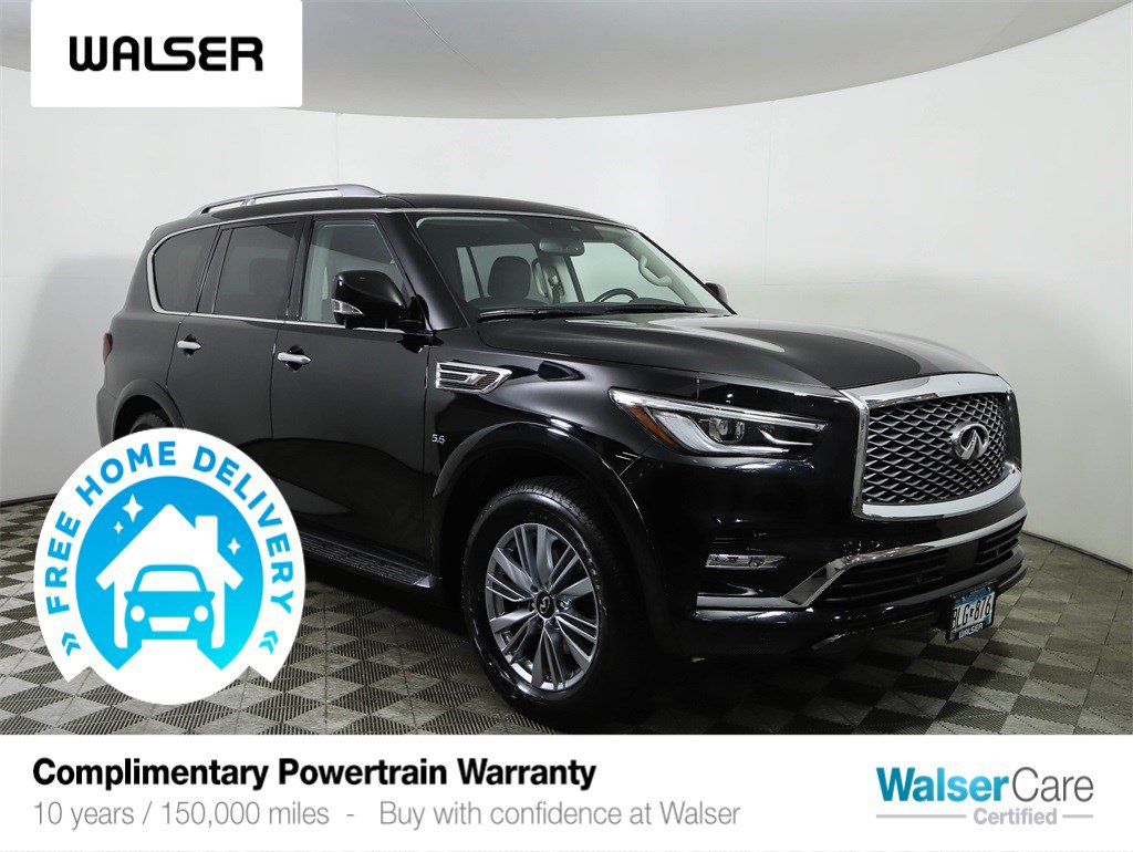 Pre-Owned 2019 INFINITI QX80 LUXE 4WD PROASSIST PKG HEATED LEATHER NAV ROOF INTEL CRUISE