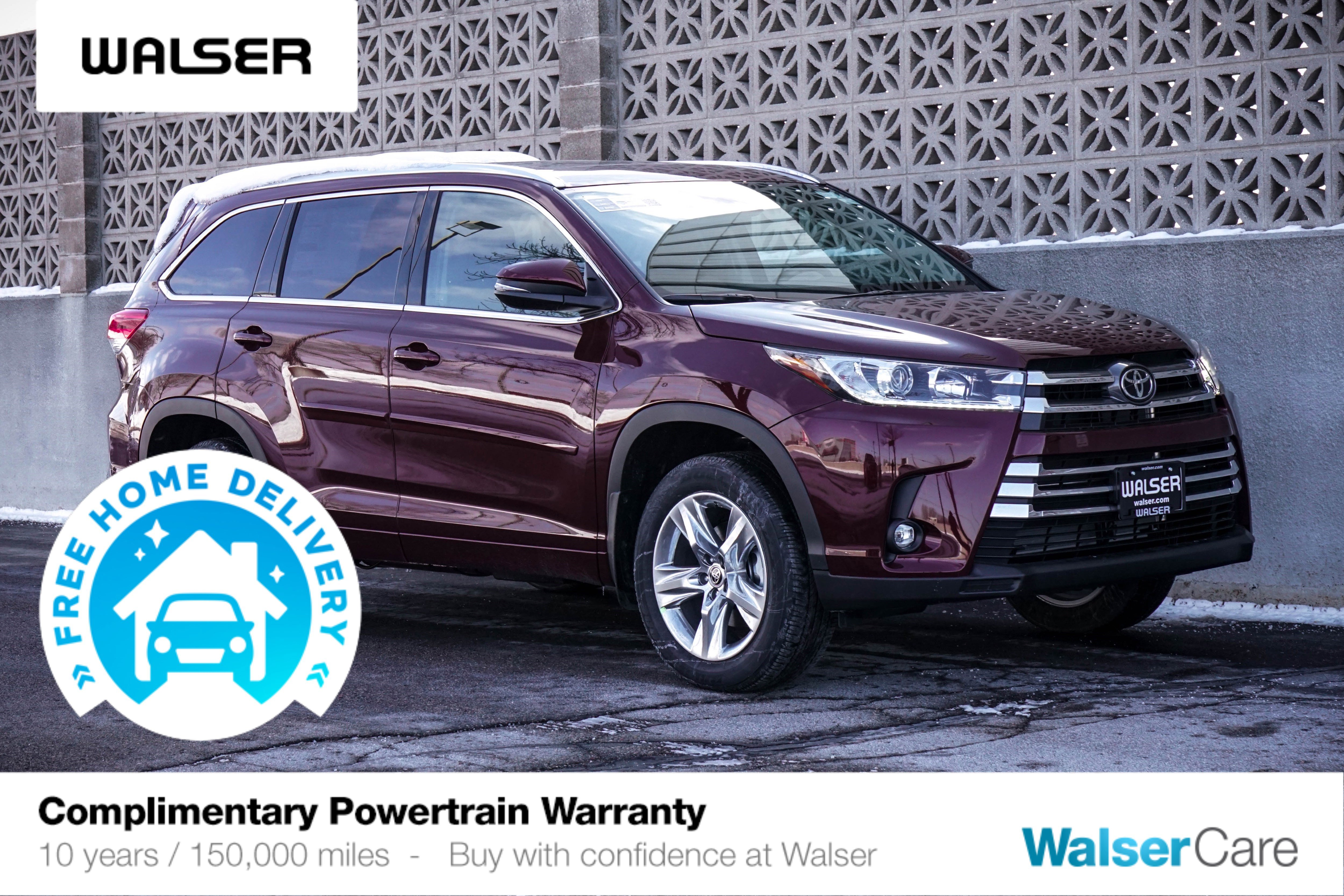 New 2019 Toyota Highlander Limited With Navigation & AWD