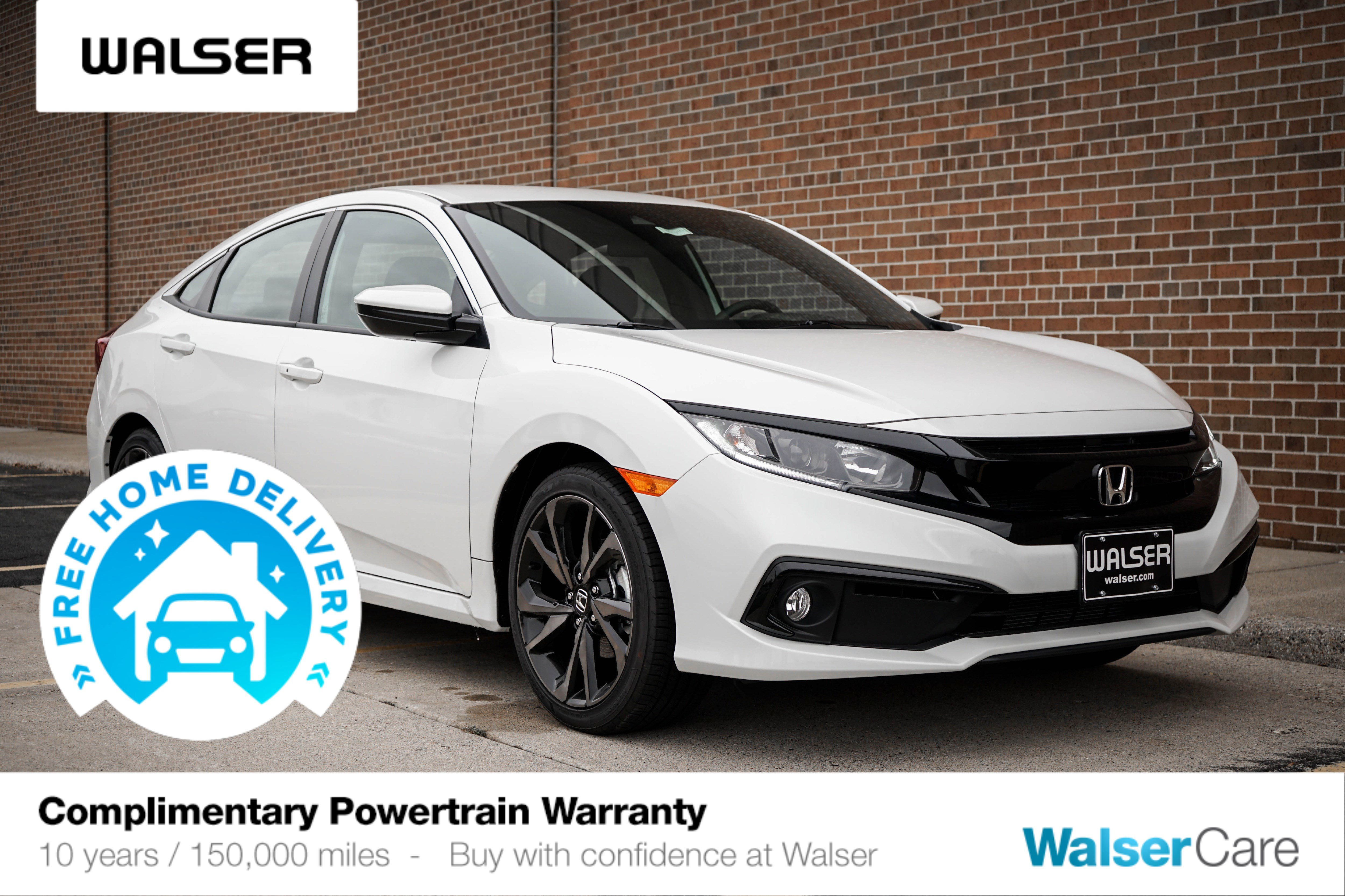 New 2020 Honda Civic Sport Sedan In Burnsville 8aw294n Walser Honda