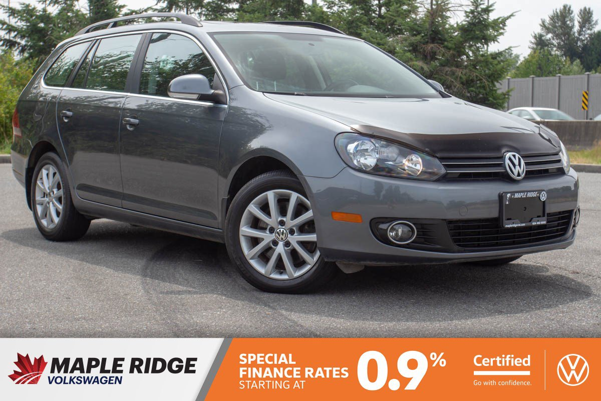 Certified Pre-Owned 2014 Volkswagen Golf Wagon Comfortline TDI PANO ROOF, NO ACCIDENTS, B.C. CAR!