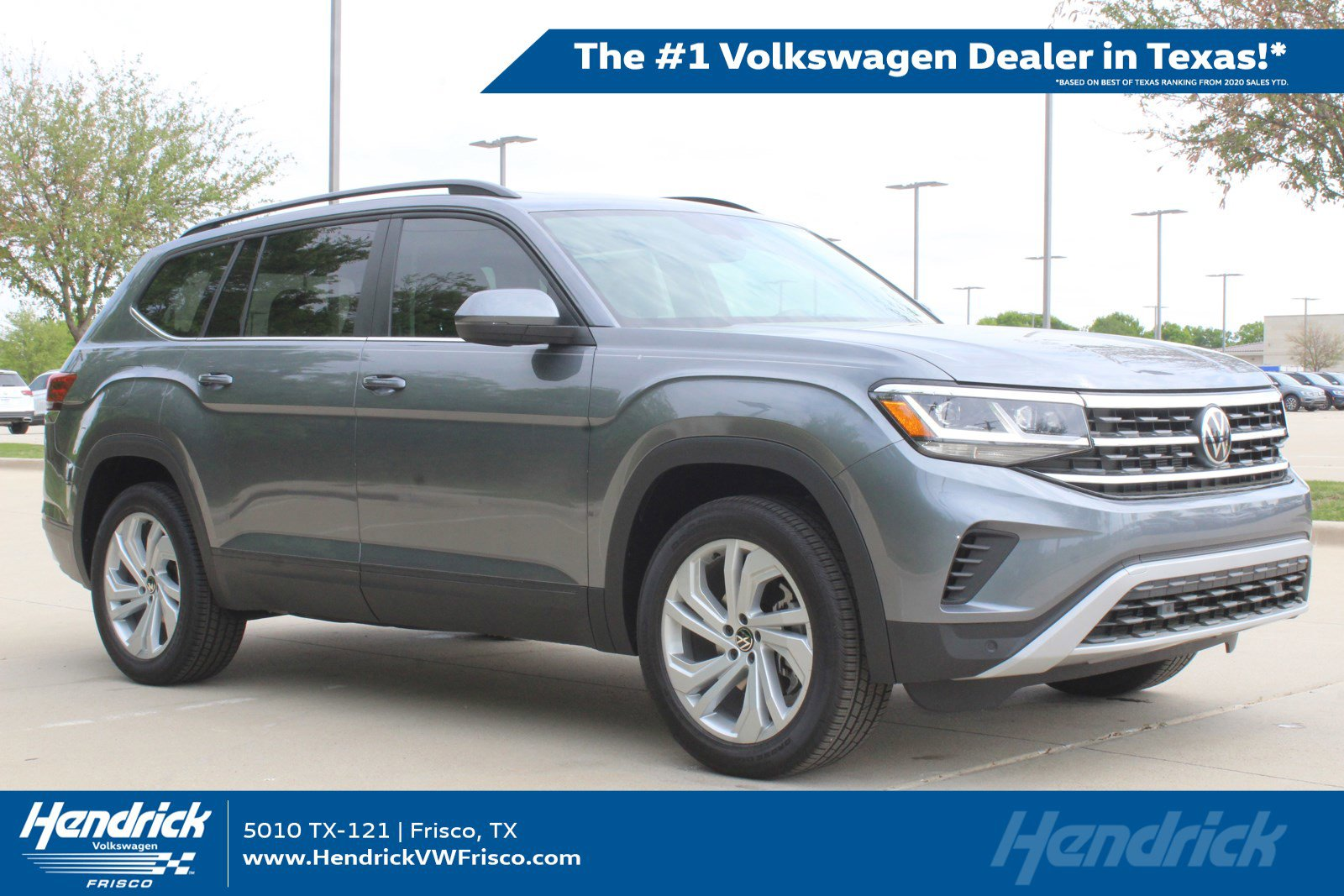 New 2021 Volkswagen Atlas V6 SE with Technology with 4MOTION®
