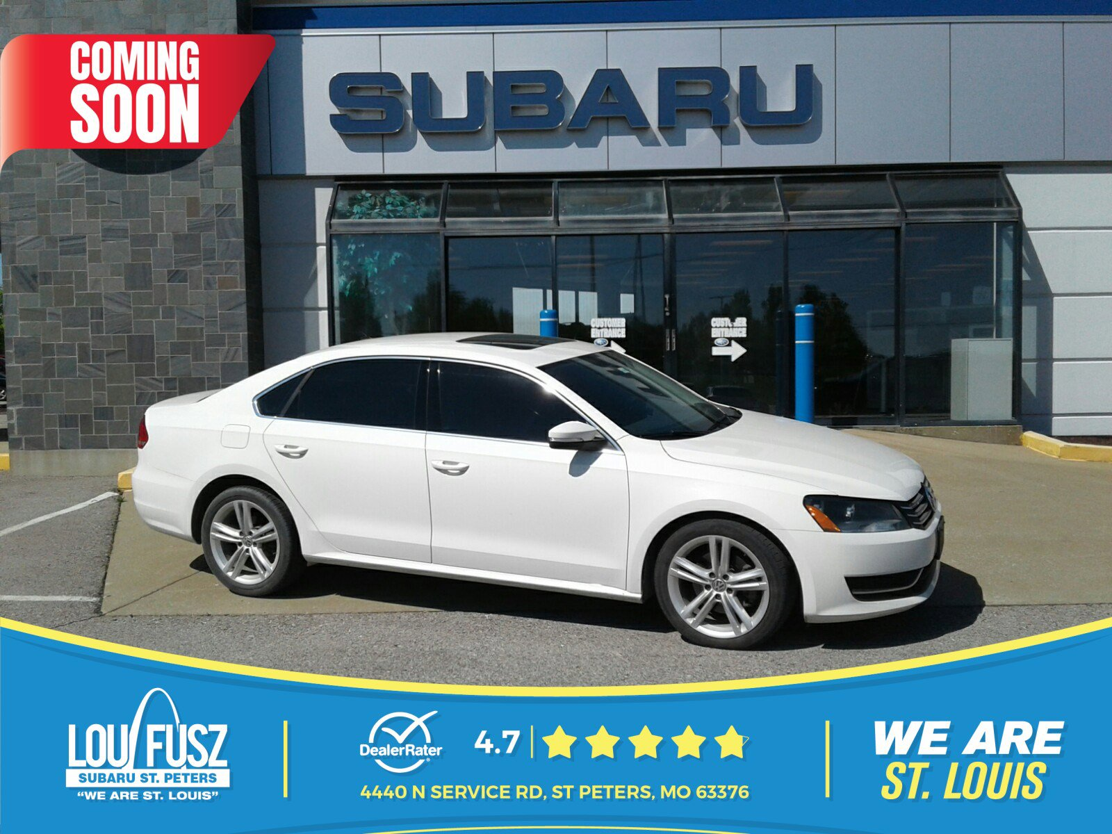 Pre-Owned 2014 Volkswagen Passat SE w/Sunroof & Nav FWD 4dr Car