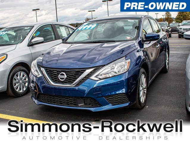 Simmons Rockwell Used >> Used 2019 Nissan Sentra Sv In Elmira Ny Auto Com 3n1ab7ap1ky324301