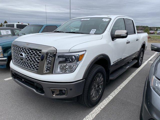 Pearl White 2019 Nissan Titan PLATINUM RESERVE Crew Cab Pickup Goldsboro NC