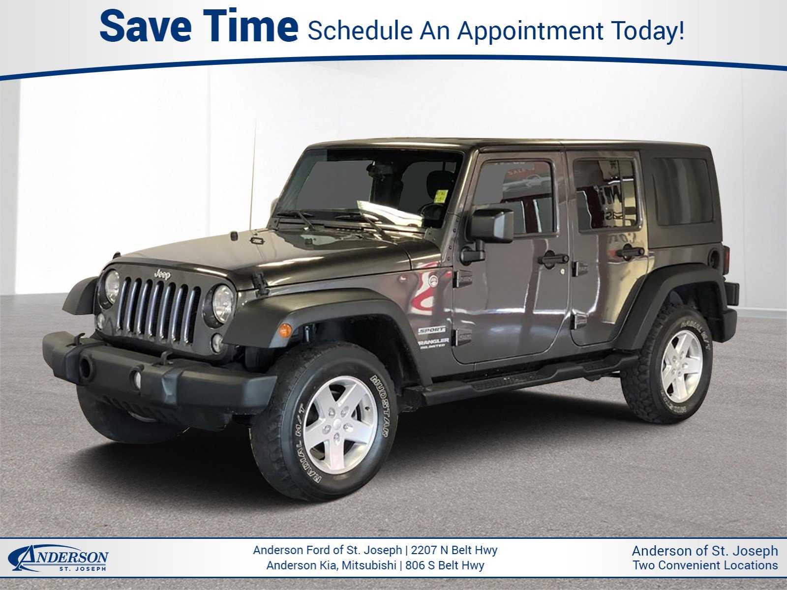 Used 2014 Jeep Wrangler Unlimited Sport Convertible for sale in St Joseph MO