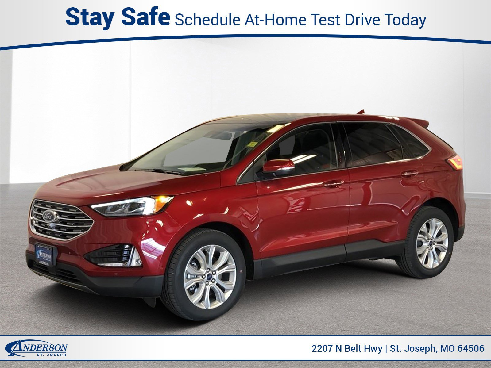 New 2020 Ford Edge Titanium Sport Utility for sale in St Joseph MO