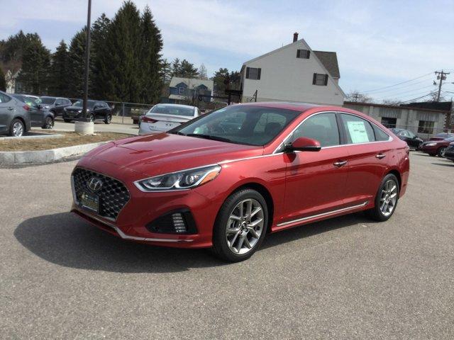 2018 Hyundai Sonata Sport Miles 3Color Scarlet Red Stock H8061 VIN 5NPE34AB2JH619756