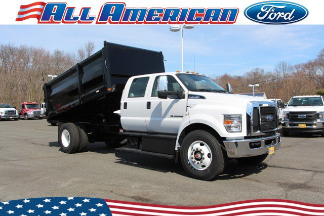 NEW 2019 FORD LANDSCAPE DUMP F750 4X4 14 FT RUGBY STAKELESS BODY LANDSCAPE TRUCK #630489